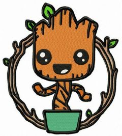 Marvel Groot embroidery design