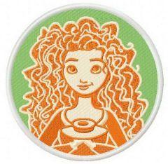Merida embroidery design