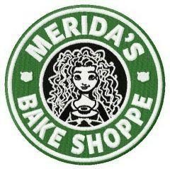 Merida's bake shoppe embroidery design