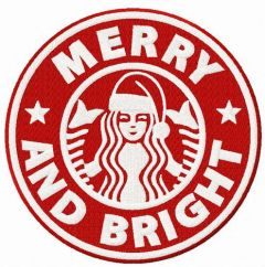Merry and Bright 3 embroidery design