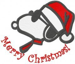 Merry Christmas Snoopy embroidery design