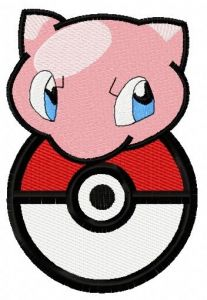Mew 2 embroidery design