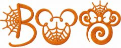 Mickey mouse boo embroidery design