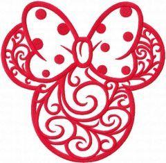 Mickey frosty patterns embroidery design