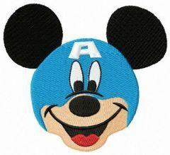 Mickey in Avengers helmet embroidery design