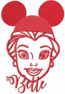 Mickey Mouse hat for belle embroidery design
