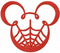 Mickey mouse net embroidery design