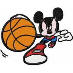 Mickey Mouse Basketball embroidery design 1