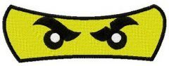 Mini figure's eyes embroidery design