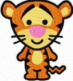 Tigger mini 2 embroidery design