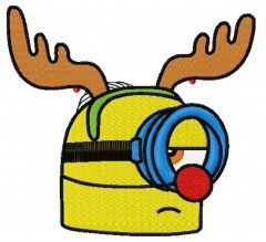 Minion in deer costume 3 embroidery design