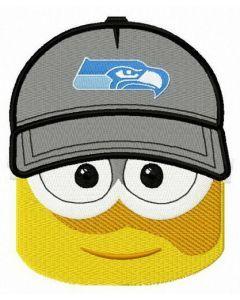 Minion Seattle Seahawks fan embroidery design
