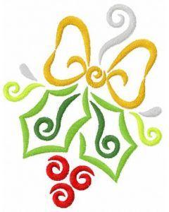 Mistletoe free embroidery design