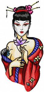 Modern Geisha Yours Forever embroidery design
