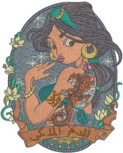 Modern Jasmin 3 embroidery design