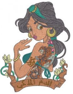 Modern Jasmin 4 embroidery design