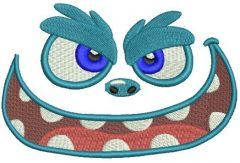 Monster embroidery design