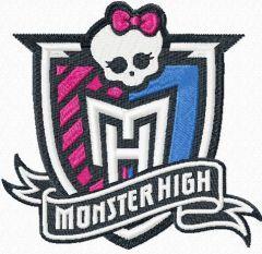 Monster High logo embroidery design