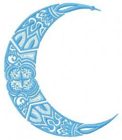 Moon machine embroidery design 4