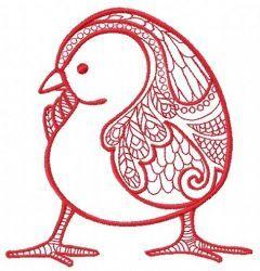 Mosaic chicken 2 embroidery design