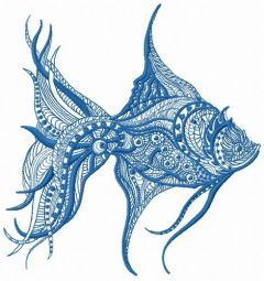 Mosaic fish 5 embroidery design