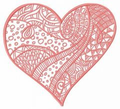 Mosaic heart embroidery design