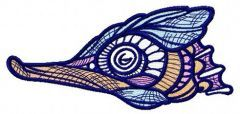 Mosaic sea horse embroidery design 3