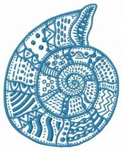 Mosaic sea shell machine embroidery design 2