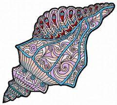 Mosaic sea shell 3 embroidery design