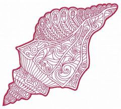 Mosaic sea shell machine embroidery design 4