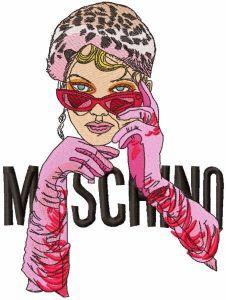 Moschino girl embroidery design
