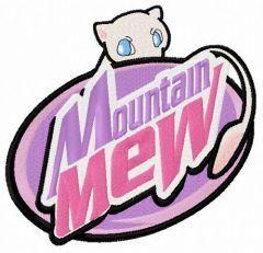 Mountain Mew embroidery design