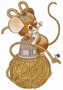 Mouse likes sewing craft embroidery design