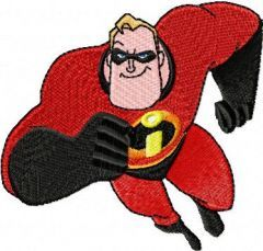 Mr. Incredible 5 embroidery design