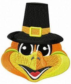 Mr. Turkey embroidery design