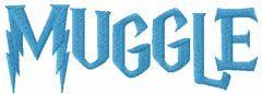 Muggle embroidery design