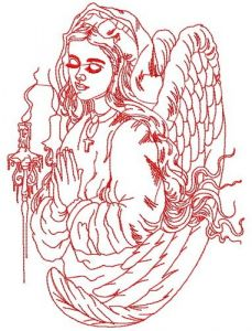 My angel embroidery design
