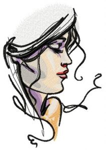 My beloved's face embroidery design