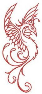 My dreams about firebird embroidery design
