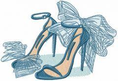 My fashion high heels embroidery design