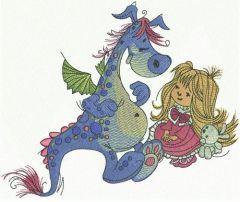 My friend dragon embroidery design