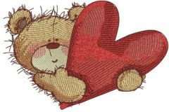 My heart is for you embroidery design