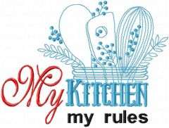 My kitchen my rules free embroidery design