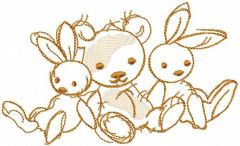 My loving toys embroidery design
