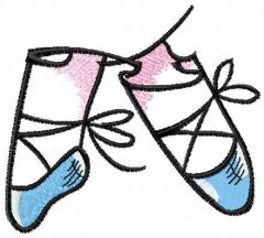 My pointe shoes embroidery design