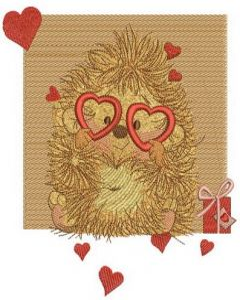 My prickly Valentine embroidery design
