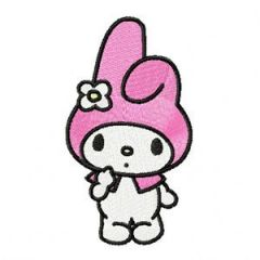 My Melody I'm Cute embroidery design