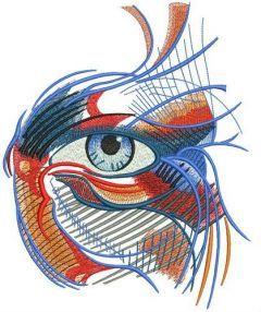 Mystical eye embroidery design