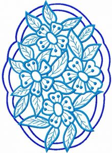 Flower lace 8 embroidery design