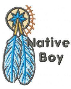 Native boy embroidery design